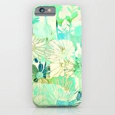 turquoise floral iPhone 6 Slim Case