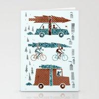 Tree Transportation Stationery Cards