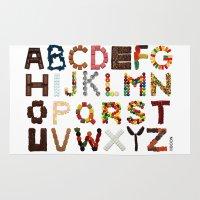 Candy Alphabet Rug