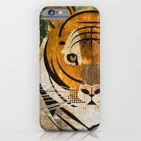 iPhone & iPod Case featuring Tiger 2 by Thefunctionalfox