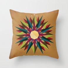 Half Circle Stars Throw Pillow