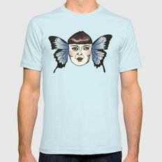 butterfly lady. Mens Fitted Tee Light Blue SMALL