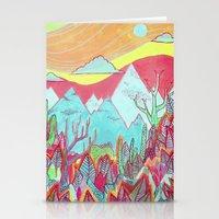 Colorful Landscape Stationery Cards
