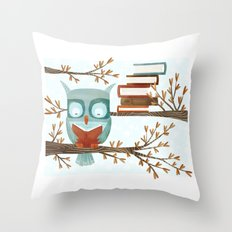 The Bookish Forest: Owl Throw Pillow