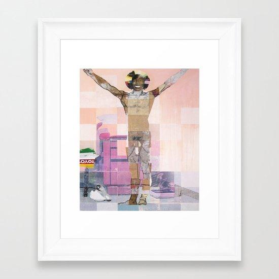 Caster Semenya's Gender Test Framed Art Print