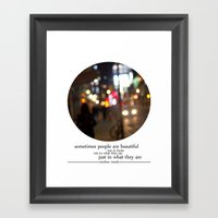 People Are Beautiful Framed Art Print