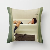 Caleb. Throw Pillow