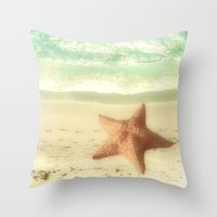 VINTAGE STARFISH Throw Pillow