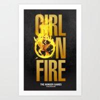 Hunger Games - Girl On F… Art Print