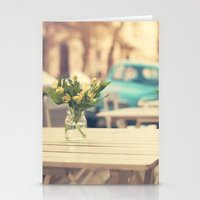 I'm gonna miss you a lot (Retro Pastel Coffee Shop in the Streets) Stationery Cards