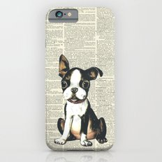 Boston Terrier Vintage Puppy iPhone 6 Slim Case