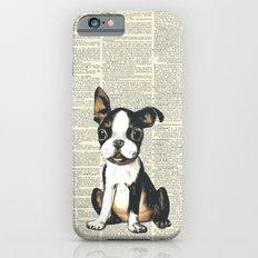 Boston Terrier Vintage Puppy iPhone 6 Slim Case