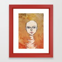 Into the Fire Framed Art Print