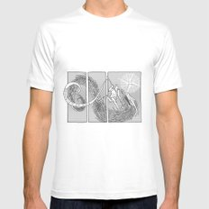 Slaying the Dragon White Mens Fitted Tee SMALL