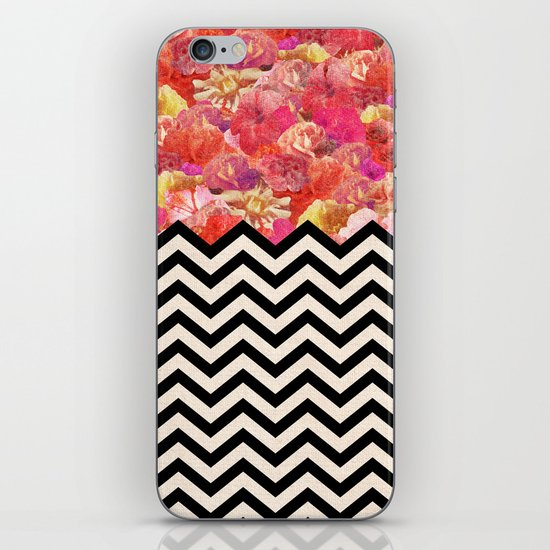 Chevron Flora iPhone & iPod Skin