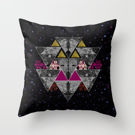 Galaxy trance  Throw Pillow