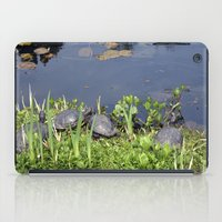 Turtles By A Water Pond … iPad Case