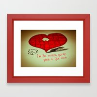 Love is...puzzling Framed Art Print