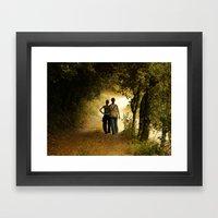 el camí Framed Art Print