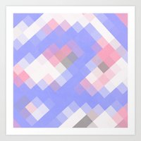 Abstract Square Pattern … Art Print