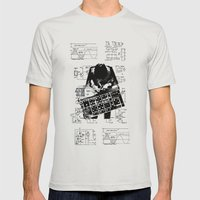 Synth Mens Fitted Tee Silver SMALL