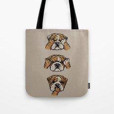 Noevil English Bulldog Tote Bag