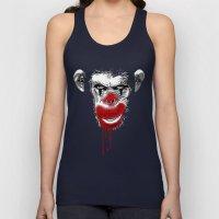 Evil Monkey Clown Unisex Tank Top