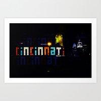 Funky Cincinnati  Art Print
