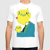 Knuckle Head III - Gary Mens Fitted Tee White SMALL