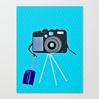 Camera On A Photographic… Canvas Print