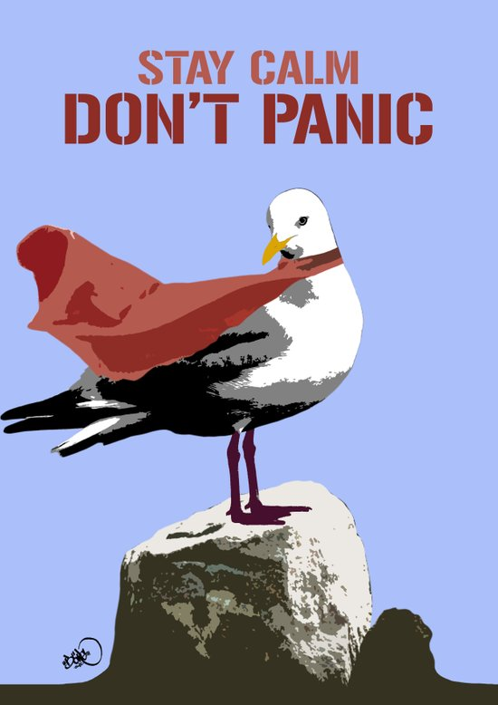 Stay calm - Don't panic Art Print