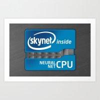 Skynet Inside Art Print