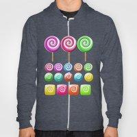 Lollipops Candy Pattern Hoody