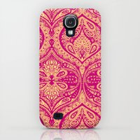 Galaxy S4 Cases featuring Simple Ogee Pink by Aimee St Hill
