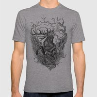Low roar Mens Fitted Tee Athletic Grey SMALL