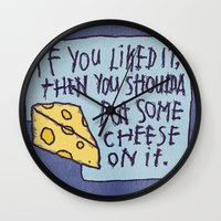 Cheese On It Wall Clock