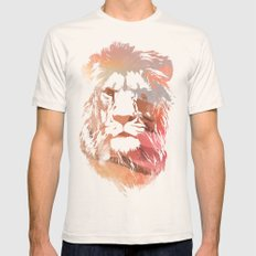 Desert Lion Mens Fitted Tee Natural SMALL