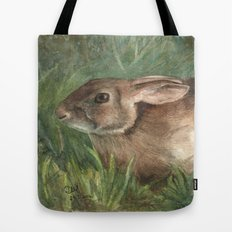 Shy Rabbit Tote Bag