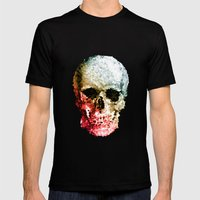 Skull Coloride Mens Fitted Tee Black SMALL