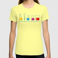 Play with your chemistry set Womens Fitted Tee Lemon SMALL