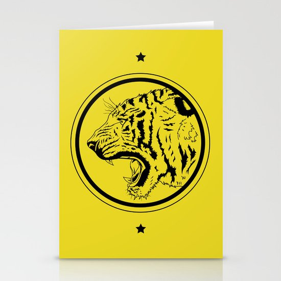 Tiger in a circle Stationery Card