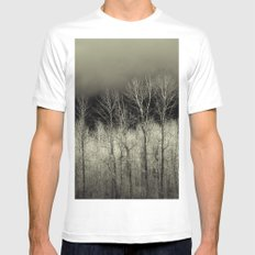November White SMALL Mens Fitted Tee