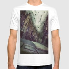 Architecture in Ghent, Belgium  Mens Fitted Tee White SMALL