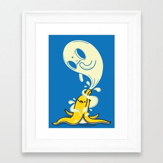 Banana Ghost Framed Art Print