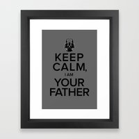 Keep Calm, I Am Your Father Framed Art Print
