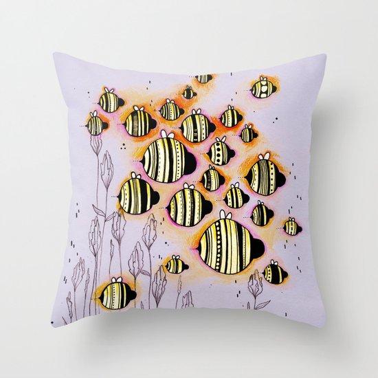 Swarm Throw Pillow
