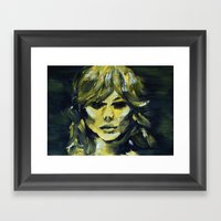 THE YELLOW QUICK PORTRAI… Framed Art Print
