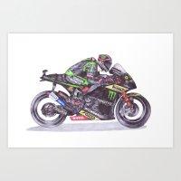 Ballpoint Pen, 4, Andrea Dovizioso Art Print