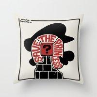 Save The Princess Throw Pillow
