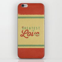 The Greatest is Love iPhone & iPod Skin